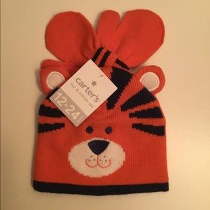 Carter's Orange Toddlers Hat and Mitten Set
